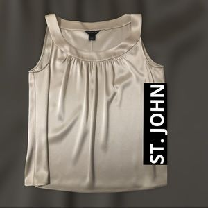 ST. JOHN CHAMPAGNE SILKY PLEATED TOP